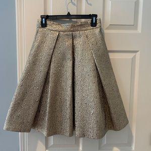Gold foil A-line skirt